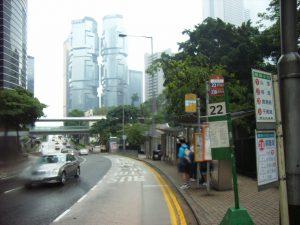 HK Cotton Tree Drive rainy day
