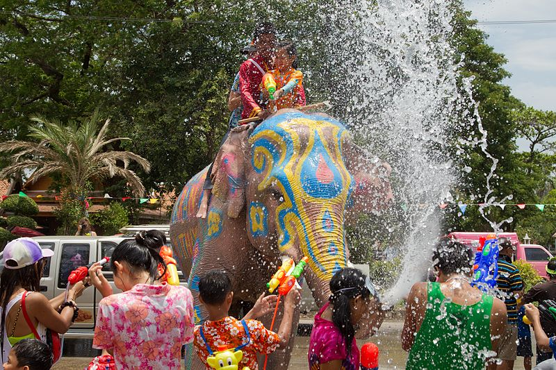 Water Battles with Elephants Kick Off Thai New Year – A Fun-Filled Celebration!