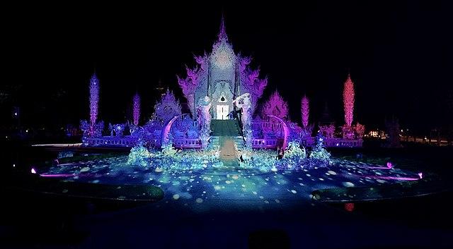 Wat Rong Khun Light Fest