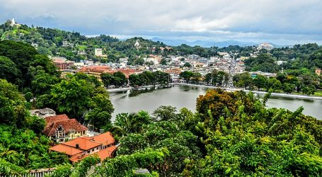 Kandy city mountain view